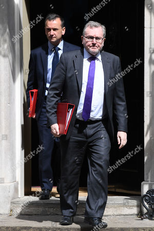 David Mundell and Alun Cairns leave a Cabinet Meeting at No.10 Downing Street
