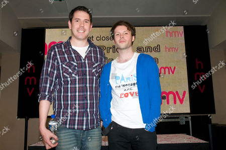 Stock Image of Director Marc Price and actor Alistair Kurton