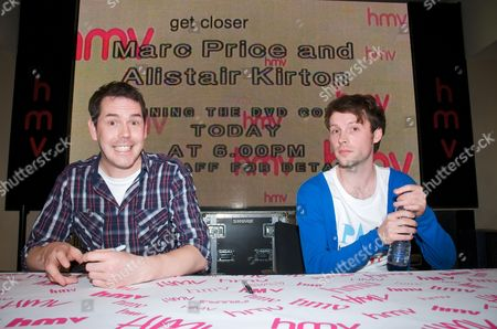Editorial photo of Marc Price and Alistair Kurton instore appearance for 'Colin' dvd release, HMV Oxford St, London, Britain - 26 Oct 2009