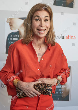 Editorial picture of 'Esos dias Azules' book presentation, Madrid, Spain - 07 May 2019