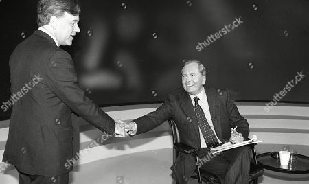 John Patten, with Brian Walden