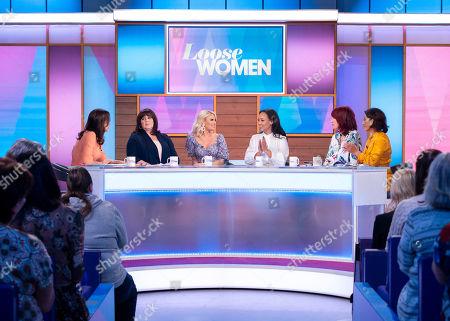 Andrea McLean, Coleen Nolan, Danielle Armstrong, Lisa Maffia, Janet Street-Porter and Saira Khan