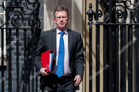 Secretary of State for Digital, Culture, Media and Sport Jeremy Wright leaves 10 Downing Street after the weekly Cabinet meeting.