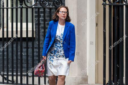 Leader of the House of Lords and Lord Privy Seal Baroness Natalie Evans leaves 10 Downing Street after the weekly Cabinet meeting.