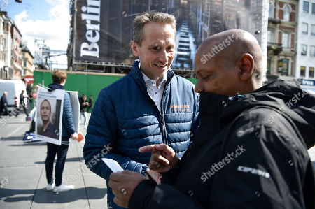 Danish Minister of Finance and Vice-Chairman of the Liberal Party Kristian Jensen during an election campaign at Noerreport Station in Copenhagen, Denmark, 07 May 2019. Prime Minister Rasmussen earlier today announced general elections to be held on 05 June 2019.