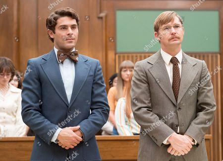 Stock Image of Zac Efron as Ted Bundy and Brian Geraghty as Florida Public Defender Dan Dowd