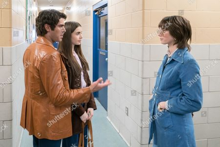Zac Efron as Ted Bundy, Lily Collins as Liz Kendall and Kaya Scodelario as Carole Anne Boone