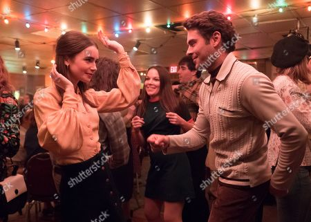 Lily Collins as Liz Kendall and Zac Efron as Ted Bundy