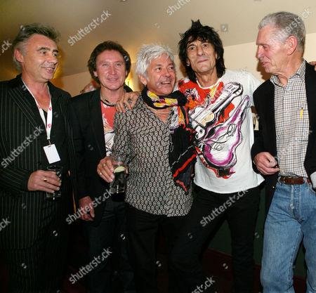 Glen Matlock, Kenney Jones, Ian McLagan, Ronnie Wood, Georgie Fame