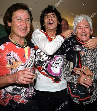 Kenney Jones, Ronnie Wood and Ian McLagan