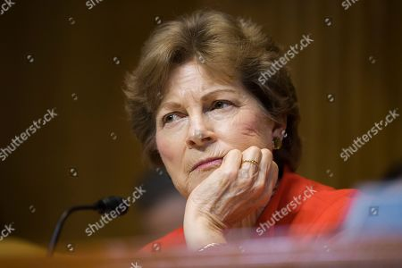 Subcommittee ranking member Jeanne Shaheen, D-N.H., listens to FBI Director Christopher Wray as he testifies during a hearing of the Appropriations Subcommittee for Commerce, Justice, Science, and Related Agencies, on Capitol Hill, in Washington