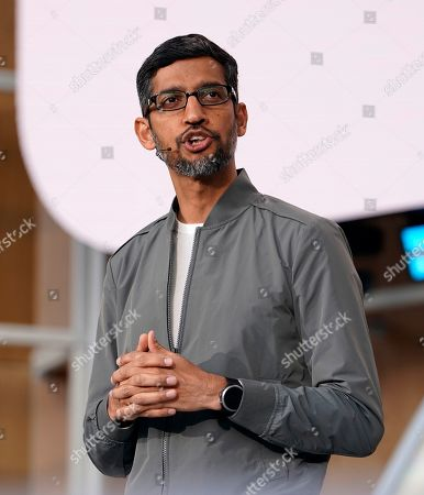 Sundar Pichai, CEO of Google during his keynote at the Google I/O at the Shoreline Amphitheatre in Mountain View, California, USA, 07 May 2019.