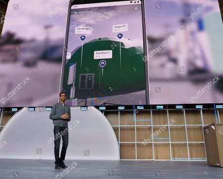 Sundar Pichai, CEO of Google during his keynote at Google I/O at the Shoreline Amphitheatre in Mountain View, California, USA, 07 May 2019.