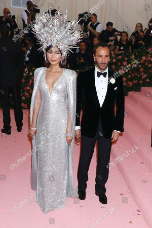 Gemma Chan and Tom Ford