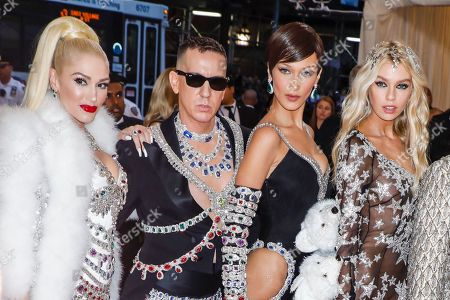 Stock Photo of Gwen Stefani, Jeremy Scott, Bella Hadid, Stella Maxwell,