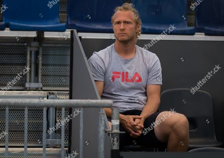 Stock Picture of Dmitry Tursunov at the 2019 Mutua Madrid Open WTA Premier Mandatory tennis tournament