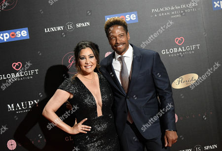 Gary Dourdan (R) and Maria Bravo (L) arrive at the 4th Global Gift Gala in Madrid, Spain, 07 May 2019. The Global Gift Gala is the main charity event of the Global Gift Foundation.