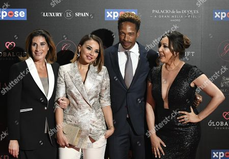 Gary Dourdan (2-R), Maria Bravo (R), Spanish singer Chenoa (2-L) and journalist Pilar Garcia de la Granja (L) arrive at the 4th Global Gift Gala in Madrid, Spain, 07 May 2019. The Global Gift Gala is the main charity event of the Global Gift Foundation.