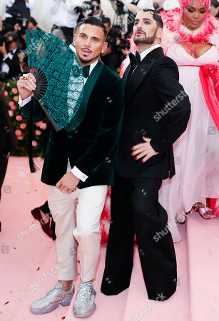 Char Defrancesco (L) and Marc Jacobs arrive on the red carpet for the 2019 Met Gala, the annual benefit for the Metropolitan Museum of Art's Costume Institute, in New York, New York, USA, 06 May 2019. The event coincides with the Met Costume Institute's new spring 2019 exhibition, 'Camp: Notes on Fashion', which runs from 09 May until 08 September 2019.