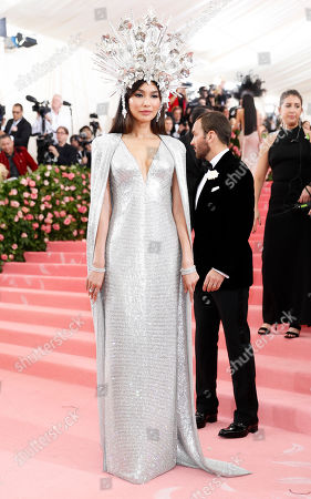 Actress Gemma Chan poses on the red carpet for the 2019 Met Gala, the annual benefit for the Metropolitian Museum of Art's Costume Institute, in New York, New York, USA, 06 May 2019. The event coincides with the Met Costume Institute's new spring 2019 exhibition, 'Camp: Notes on Fashion', which runs from 09 May until 08 September 2019.