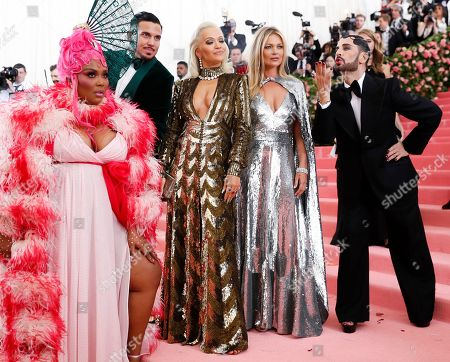 (L-R) Lizzo, Char Defrancesco, Rita Ora, Kate Moss and Marc Jacobs pose on the red carpet for the 2019 Met Gala, the annual benefit for the Metropolitian Museum of Art's Costume Institute, in New York, New York, USA, 06 May 2019. The event coincides with the Met Costume Institute's new spring 2019 exhibition, 'Camp: Notes on Fashion', which runs from 09 May until 08 September 2019.