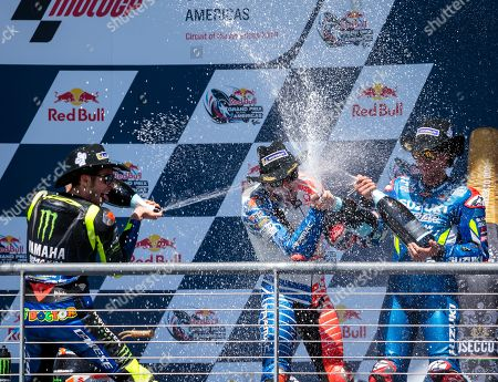 Valentino Rossi, Jack Miller, and Alex Rins