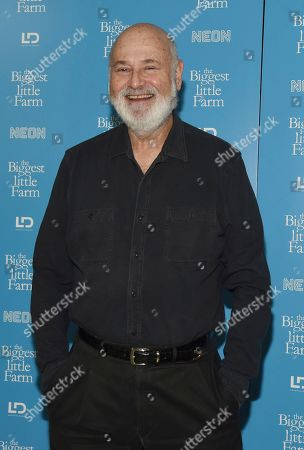 "Rob Reiner poses at the premiere of the documentary film ""The Biggest Little Farm"" at The Landmark, in Los Angeles"