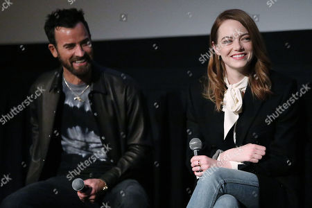 Justin Theroux and Emma Stone
