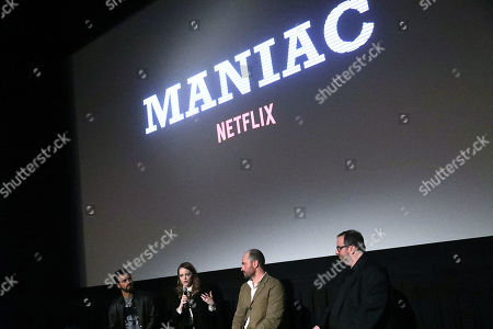 """Editorial picture of """"Maniac"""" Screening and Q&A with Justin Theroux, Emma Stone and Creator Patrick Somerville, New York, USA - 07 May 2019"""