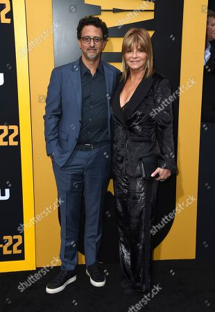 "Grant Heslov, Lysa Hayland. Grant Heslov and Lysa Hayland arrive at the Los Angeles premiere of ""Catch-22"" at TCL Chinese Theatre on Tue"