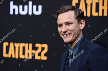 """Lewis Pullman arrives at the Los Angeles premiere of """"Catch-22"""" at TCL Chinese Theatre on Tue"""
