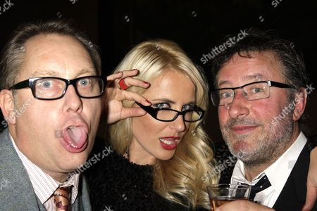 Vic Reeves, Nancy Sorrell and Rowland Rivron