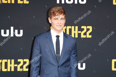 Graham Patrick Martin arrives for the premiere of Hulu's 'Catch 22' at the TCL Chinese Theatre IMAX in Hollywood, Los Angeles, California, USA 07 May 2019. The movie opens in the US 17 May 2019.