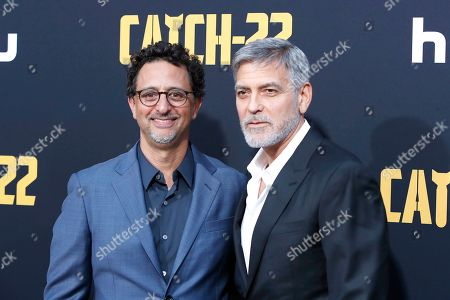 Grant Heslov and US director/actor George Clooney arrives for the premiere of Hulu's 'Catch 22' at the TCL Chinese Theatre IMAX in Hollywood, Los Angeles, California, USA 07 May 2019. The movie opens in the US 17 May 2019.