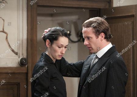Sian Clifford (Lucy), Geoffrey Streatfield (Freder)