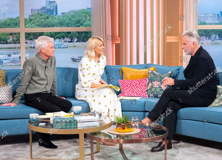 Stock Photo of Phillip Schofield and Holly Willoughby with Trevor Eve