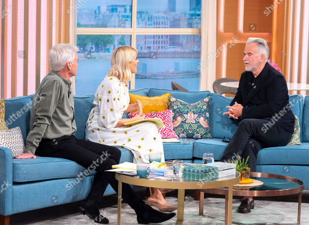 Phillip Schofield and Holly Willoughby with Trevor Eve