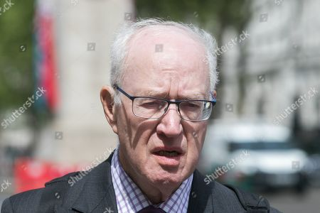 Former Archbishop of Canterbury George Carey in Westminster