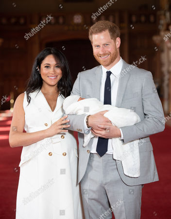 Editorial image of Prince Harry and Meghan Duchess of Sussex new baby photocall, Windsor Castle, UK - 08 May 2019