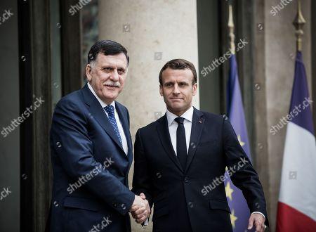 Fayez al-Sarraj, Emmanuel Macron