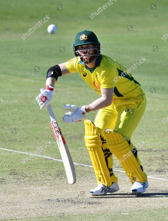 David Warner of the Australia XI in action during the One-Day cricket practice match before the World Cup between the Australia XI and New Zealand XI at Allan Border Field in Brisbane, 08 May 2019.