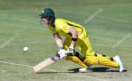 Steve Smith of the Australia XI in action during the One-Day cricket practice match before the World Cup between the Australia XI and New Zealand XI at Allan Border Field in Brisbane, 08 May 2019.