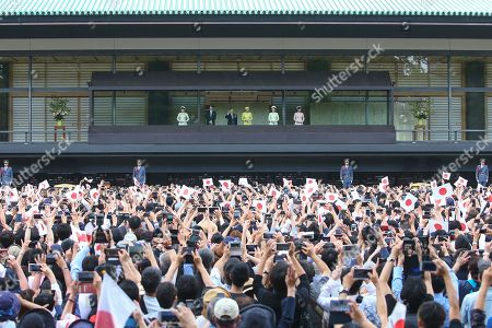 Editorial picture of Emperor Naruhito greets the public, Imperial Palace, Tokyo, Japan - 04 May 2019