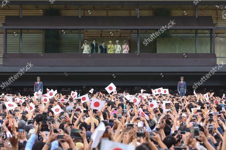 Editorial photo of Emperor Naruhito greets the public, Imperial Palace, Tokyo, Japan - 04 May 2019