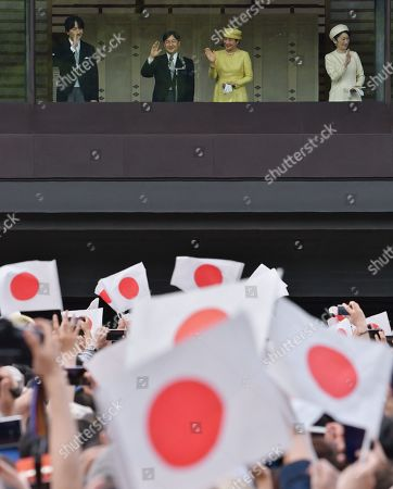 Editorial image of Emperor Naruhito greets the public, Imperial Palace, Tokyo, Japan - 04 May 2019