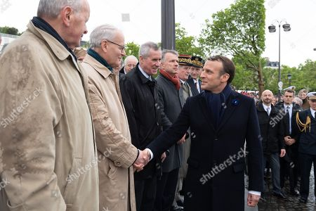 Jacques Toubon, Bertrand Louvel, Jean-Claude Marin and Emmanuel Macron.