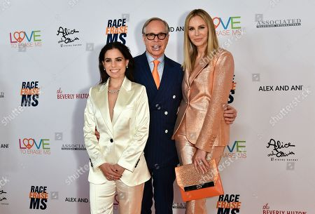 Stock Picture of Ally Hilfiger, Tommy Hilfiger and Dee Ocleppo