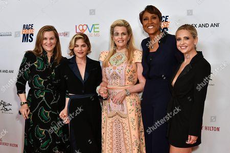 Selma Blair, Nancy Davis, Robin Roberts, Sarah Michelle Gellar and guest