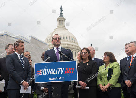 Human Rights Campaign President Chad Griffin speaks at a Human Rights Campaign and New Dems Coalition press conference for the Equality Act on in Washington