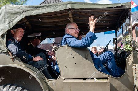 Pieter van Vollenhoven Jr. husband to Princess Margriet of the Netherlands seen saying hi to the public during the parade.